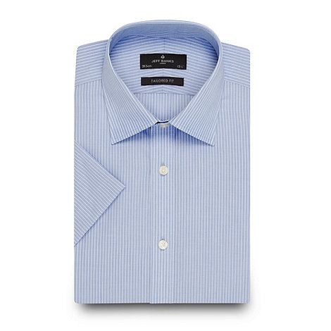 Jeff Banks - Designer blue fine striped shirt