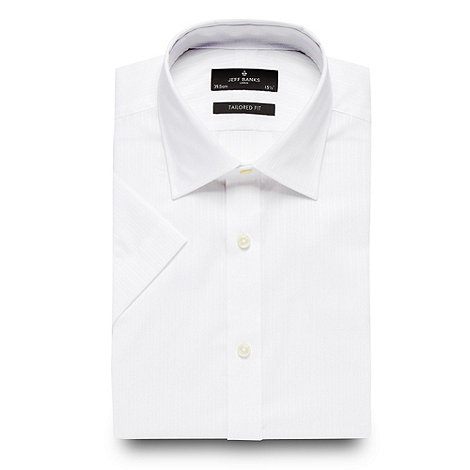 Jeff Banks - Designer white textured striped shirt
