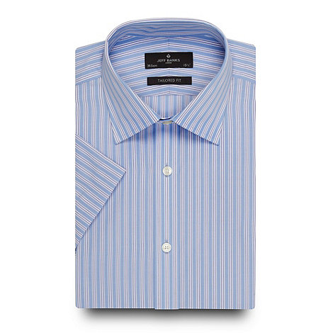 Jeff Banks - Designer blue multi striped shirt