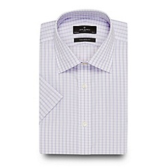 Jeff Banks - Designer lilac checked shirt