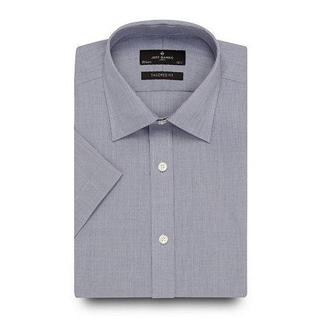 Jeff Banks - Designer navy fine checked shirt