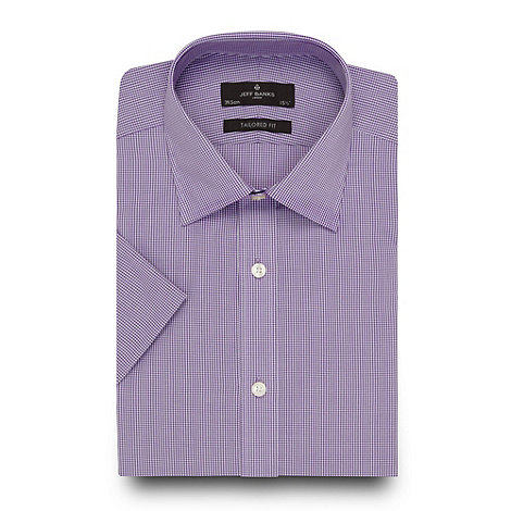 Jeff Banks - Designer lilac micro checked shirt