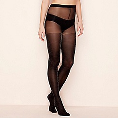 The Collection - Black opaque glitter tights