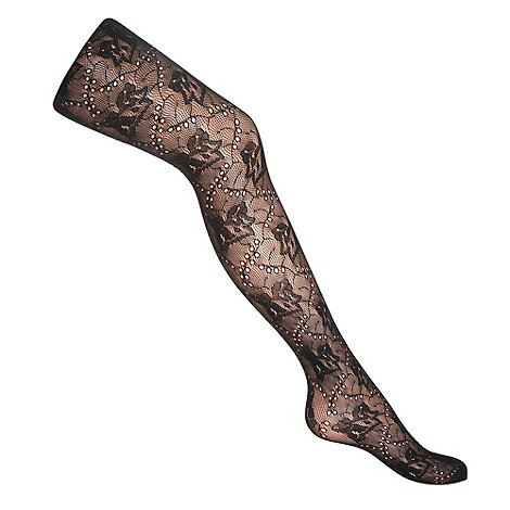 Red Herring - Black all over lace tights