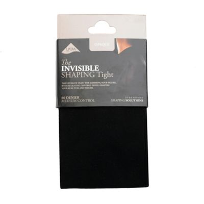 Black 60d opaque medium control invisible shaping tights