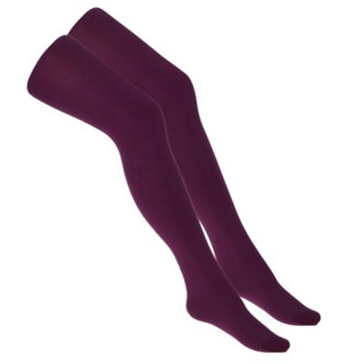 Pack Of Two Purple 60 Denier Opaque Maternity Tights