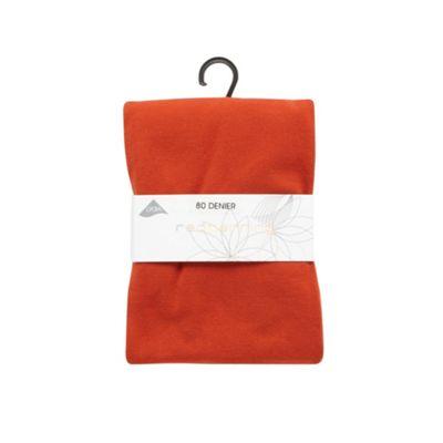 Dark orange 80D opaque tights