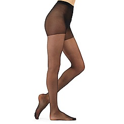Debenhams - Pack of three black 15 Denier shine look tights