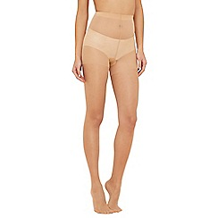 Debenhams - Pack of three nude 15 Denier shine look tights