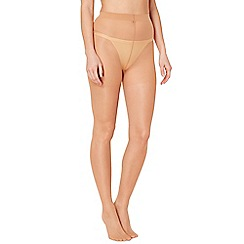 Debenhams - Pack of three natural 15 Denier shine look tights