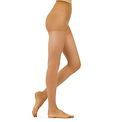 Debenhams - Pack of three olive 10 Denier matte look tights