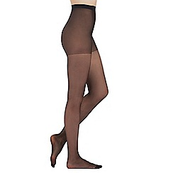 Debenhams - Pack of three black 10 Denier matte look tights