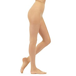 Debenhams - Pack of three nude 10 Denier matte look tights