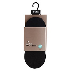 Debenhams - Pack of two black opaque cooling finish footsies
