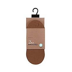 Debenhams - Pack of two bronze opaque cooling finish footsies