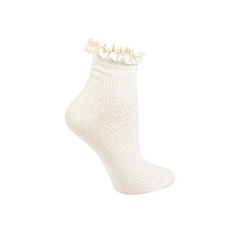 Iris & Edie - 1pp frill top ankle sock