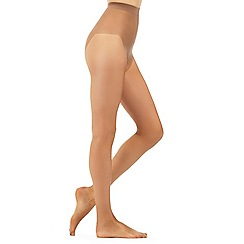 Debenhams - Bronze 7 Denier sheer and shimmer tights