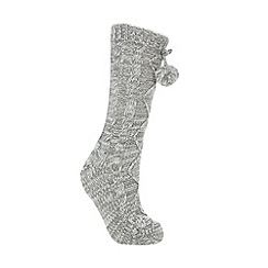 RJR.John Rocha - Grey cable knit slipper socks