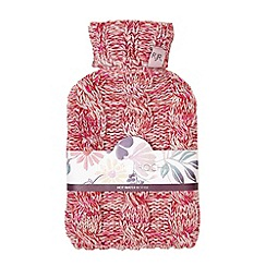 RJR.John Rocha - Designer red cable knit hot water bottle