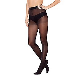 Debenhams - Pack of three black 40 Denier microfibre opaque tights