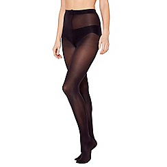 Debenhams - Pack of three navy 60 denier microfibre tights