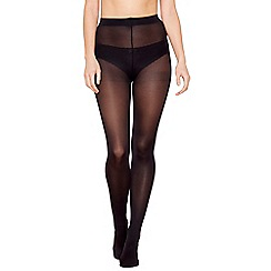 Debenhams - Pack of three black 60 denier microfibre tights
