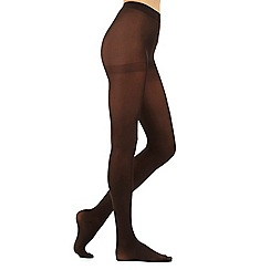 Debenhams - Pack of three chocolate 60 denier microfibre tights