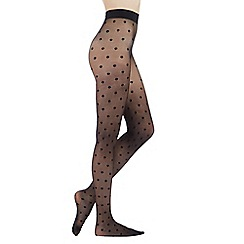Debenhams - Black spotty opaque tights