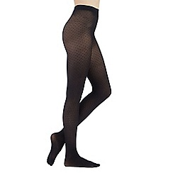 Debenhams - Black diamond patterned opaque tights