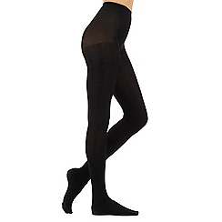 Debenhams - Black cable patterned tights