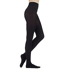 Debenhams - Light brown 80 Denier opaque tights with comfort waistband
