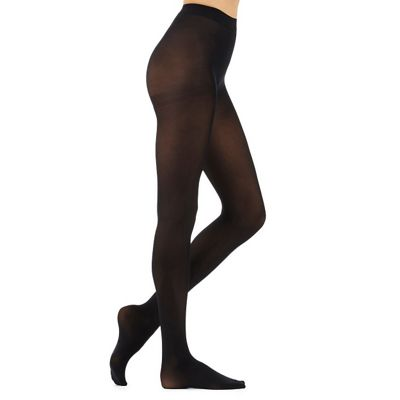 Debenham Black 300 Denier opaque tight with comfort waitband - . -