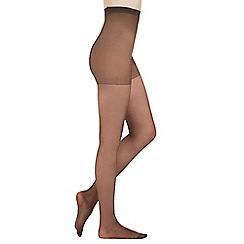 Pretty Polly - Pack of three black 15 Denier curve tights