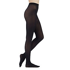 J by Jasper Conran - Black 40 Denier opaque tights with comfort waistband
