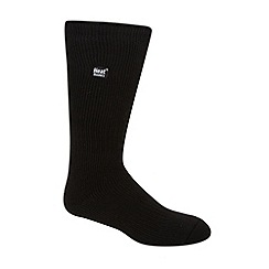 Heat Holders - Black plain knit long thermal socks