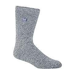 Heat Holders - Light blue flecked knit short thermal socks