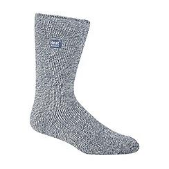 Heat Holders - Light blue flecked knit short thermal socks
