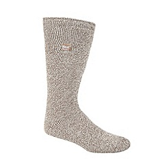Heat Holders - Beige flecked knit long thermal socks