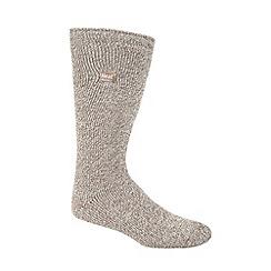 Heat Holders - Beige flecked knit long thermal socks
