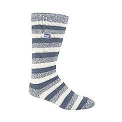 Heat Holders - Light blue flecked knit long thermal socks