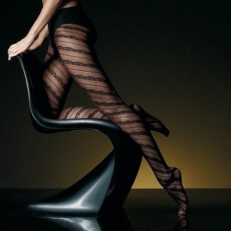 J by Jasper Conran - Black sheer spiral lace tights
