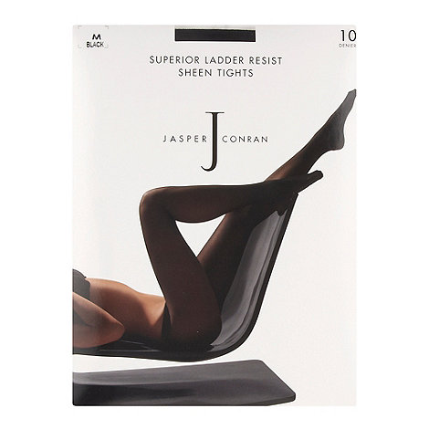 J by Jasper Conran - Black 10D sheer ladder resistant matt tights