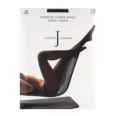 J by Jasper Conran - Black 15D sheer ladder resistant sheen tights