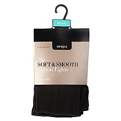Debenhams - Black 100D opaque soft and smooth cotton tights