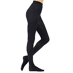 Debenhams - Pack of two navy 60d opaque soft and smooth comfort tights