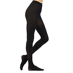 Debenhams - Pack of two black 60d opaque soft and smooth comfort tights