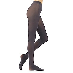 Debenhams - Pack of two grey and black 60d opaque soft and smooth comfort tights