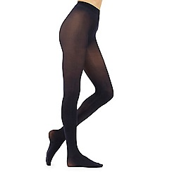 Debenhams - Pack of two navy 40D opaque soft and smooth comfort tights