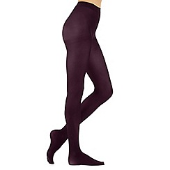 J by Jasper Conran - Purple 60D supersoft opaque tights
