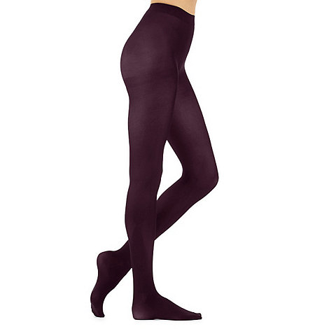 J by Jasper Conran - Purple 60 denier opaque tights